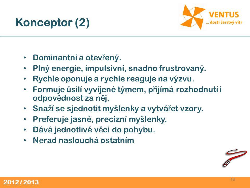 Konceptor (2) Dominantní a otevřený.