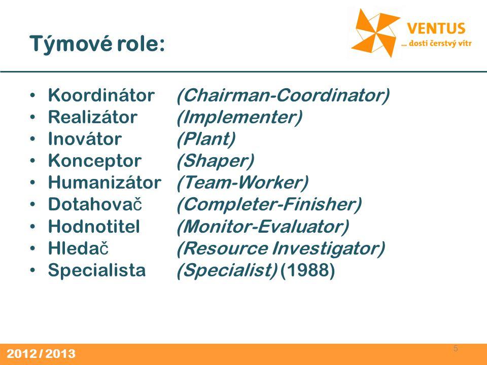 Týmové role: Koordinátor (Chairman-Coordinator)