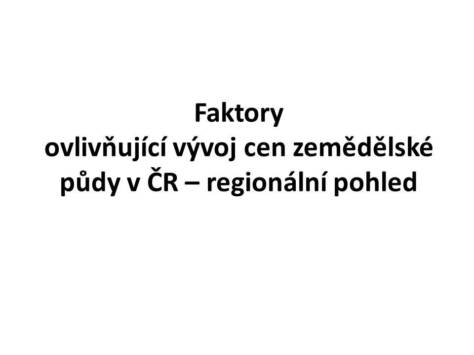 Faktory ovlivňující vývoj cen zemědělské půdy v ČR – regionální pohled