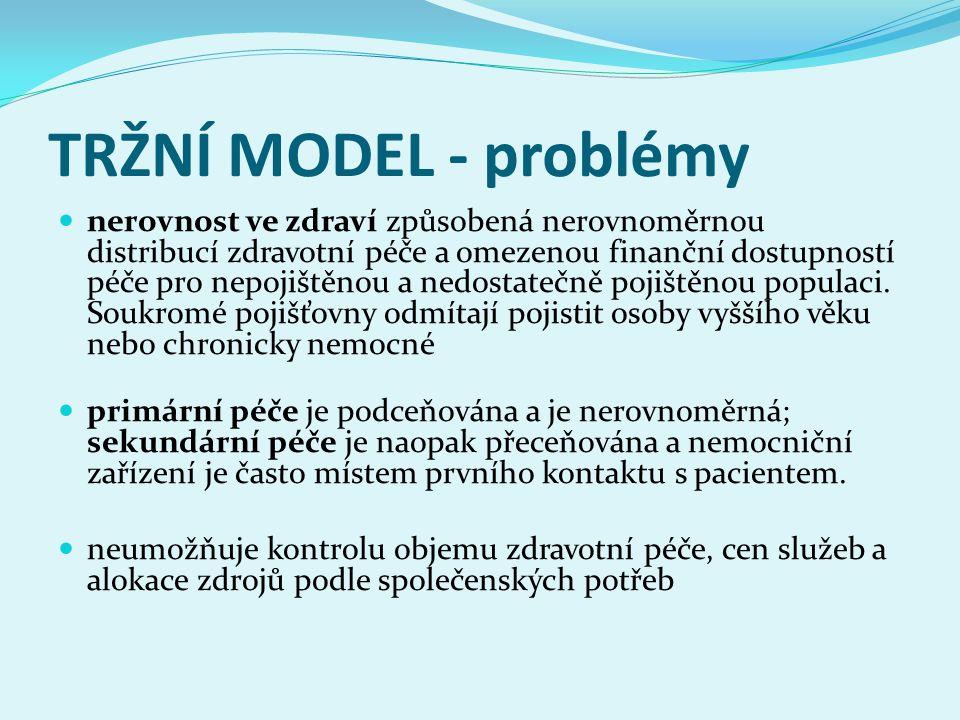 TRŽNÍ MODEL - problémy