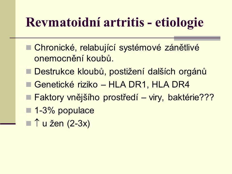 Revmatoidní artritis - etiologie