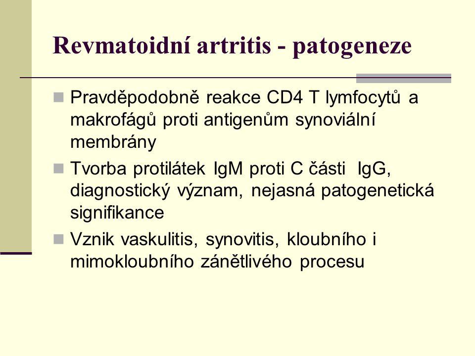 Revmatoidní artritis - patogeneze