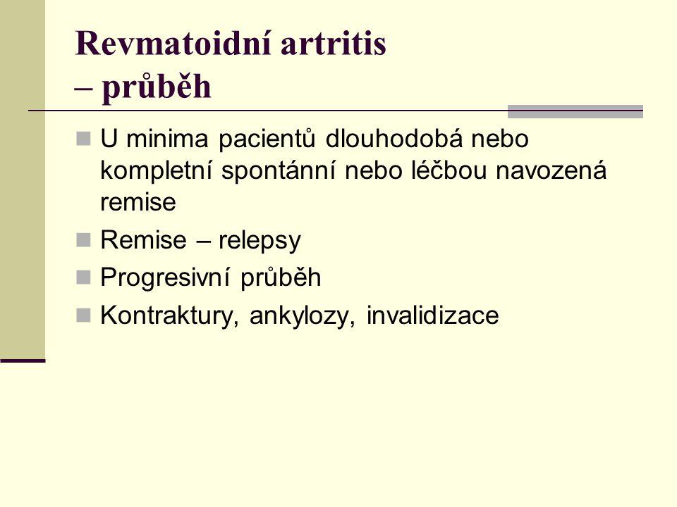 Revmatoidní artritis – průběh