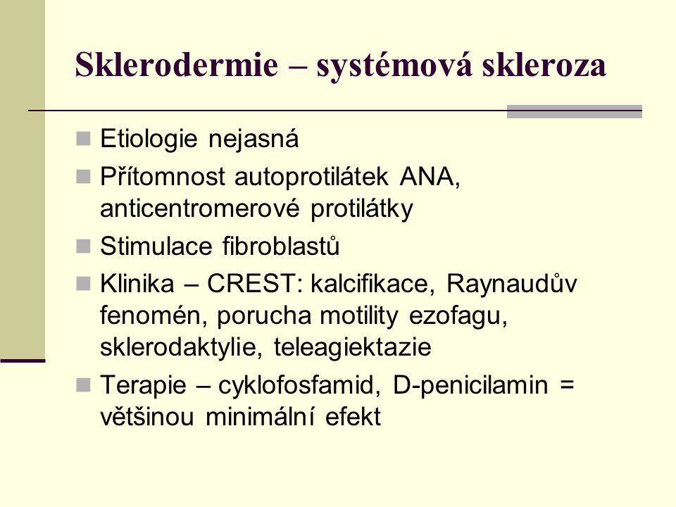 Sklerodermie – systémová skleroza