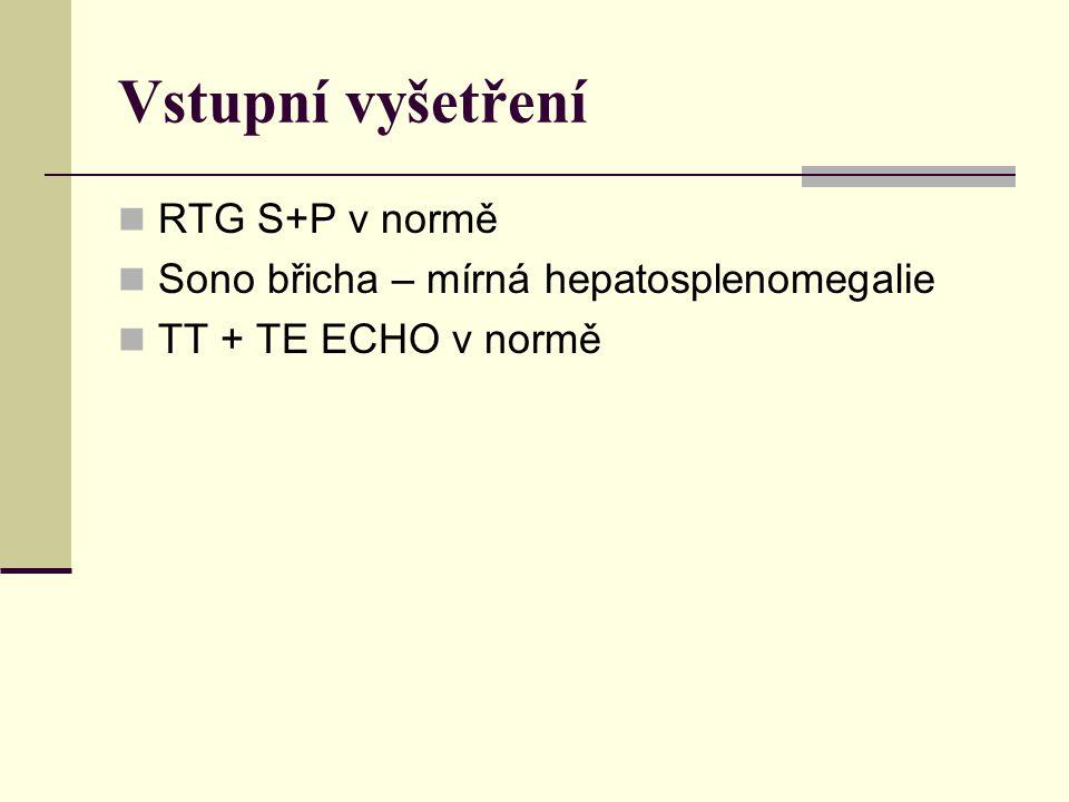 Vstupní vyšetření RTG S+P v normě
