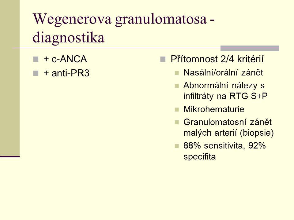 Wegenerova granulomatosa - diagnostika