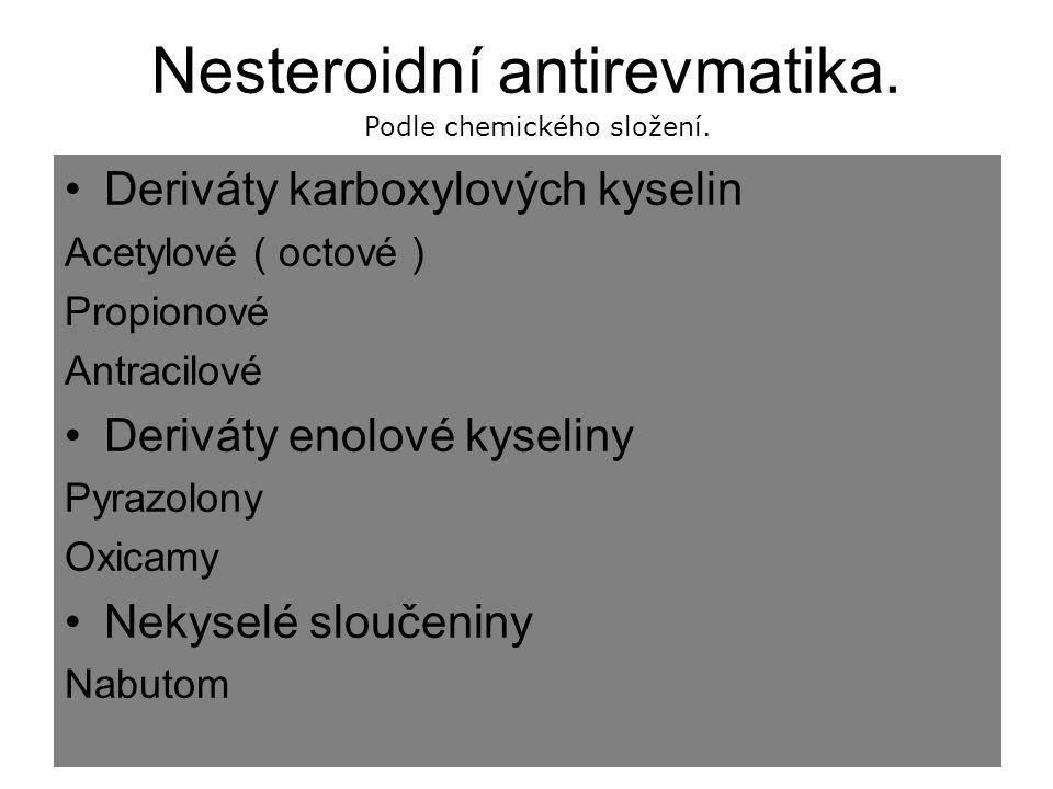 Nesteroidní antirevmatika.
