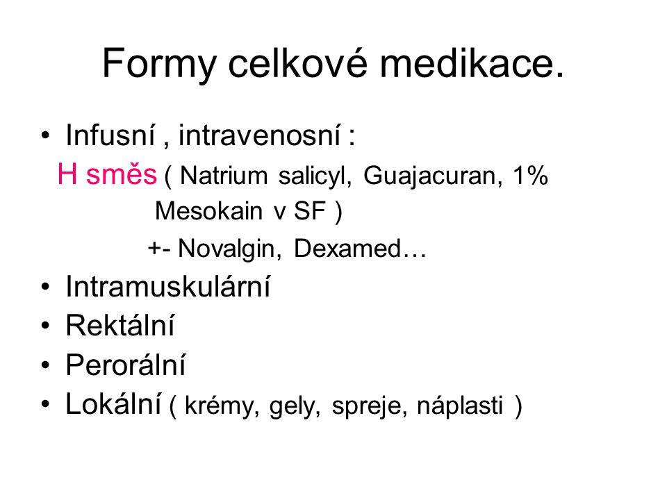 Formy celkové medikace.