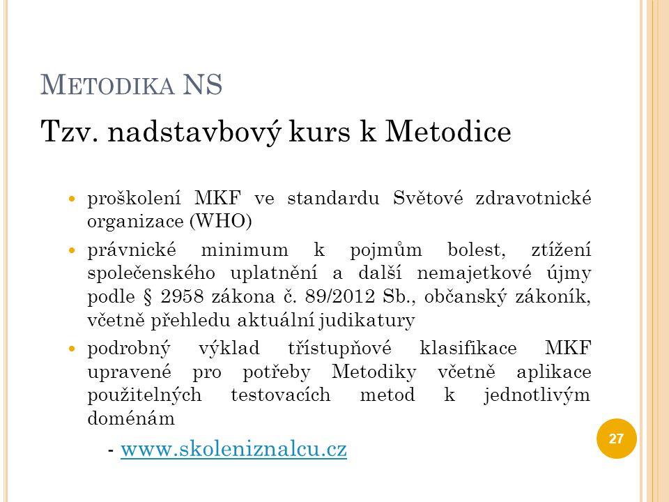 Tzv. nadstavbový kurs k Metodice