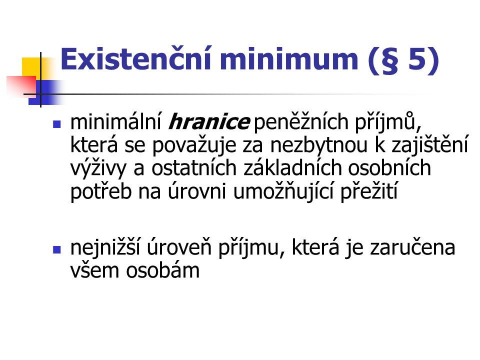 Existenční minimum (§ 5)