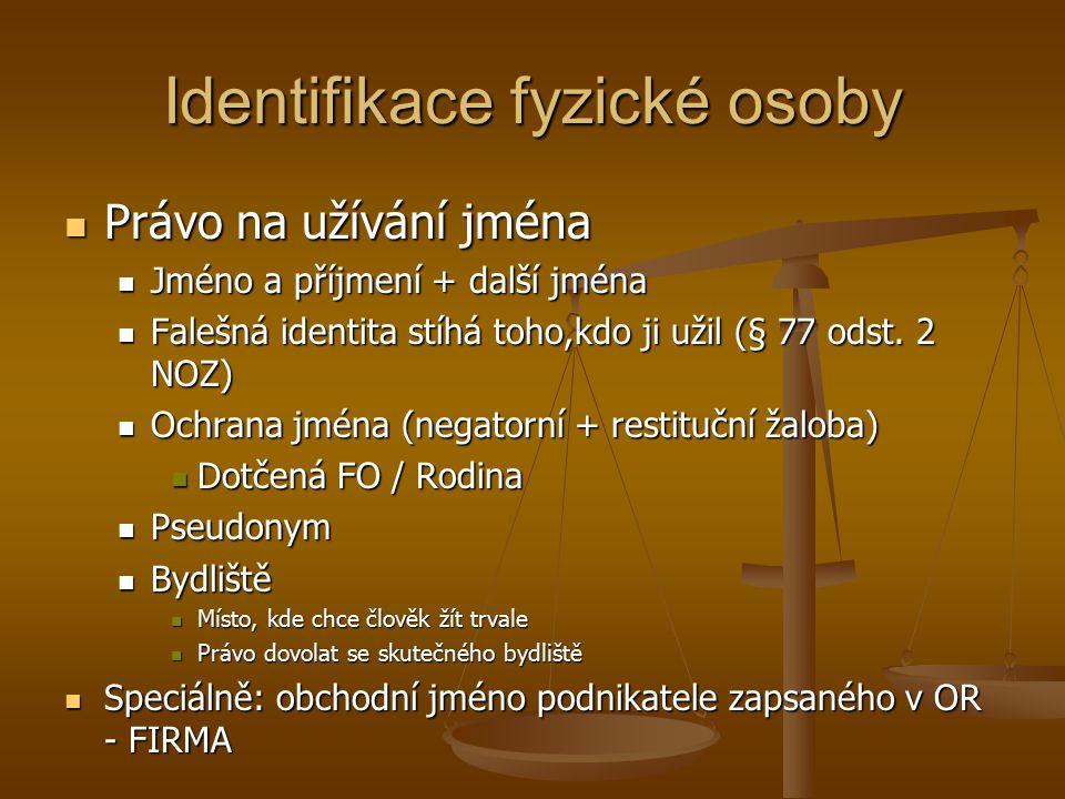 Identifikace fyzické osoby