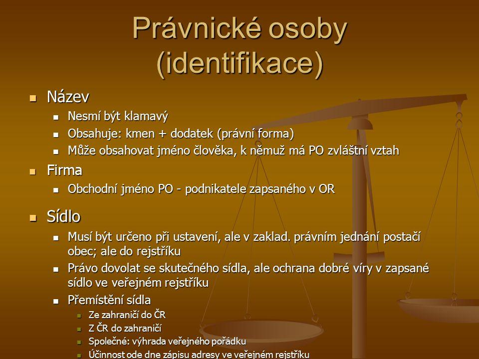 Právnické osoby (identifikace)