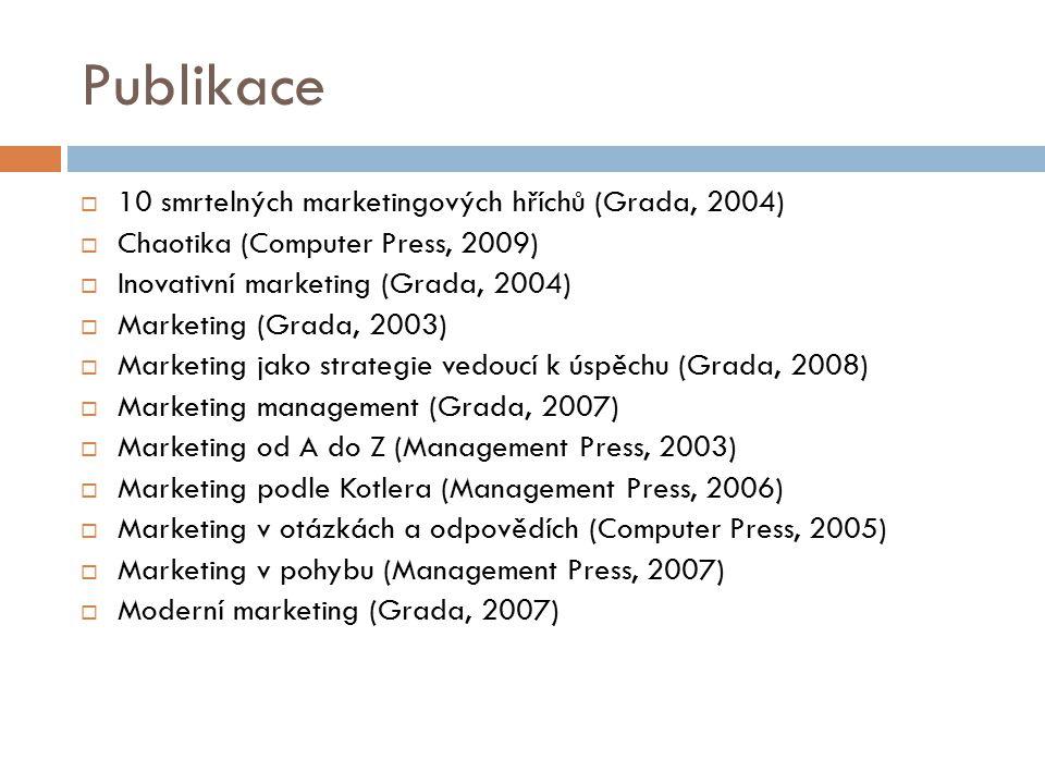 Publikace 10 smrtelných marketingových hříchů (Grada, 2004)