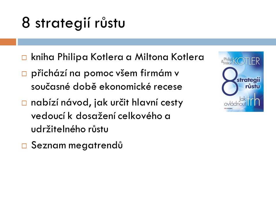 8 strategií růstu kniha Philipa Kotlera a Miltona Kotlera