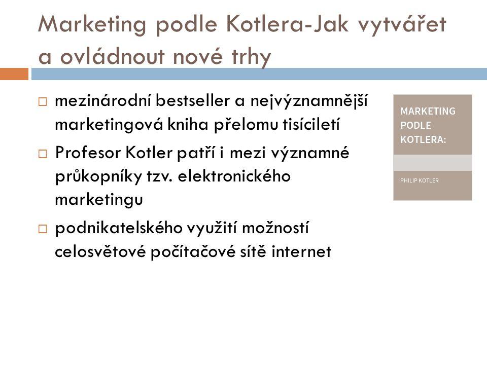 Marketing podle Kotlera-Jak vytvářet a ovládnout nové trhy