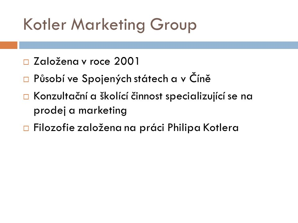 Kotler Marketing Group