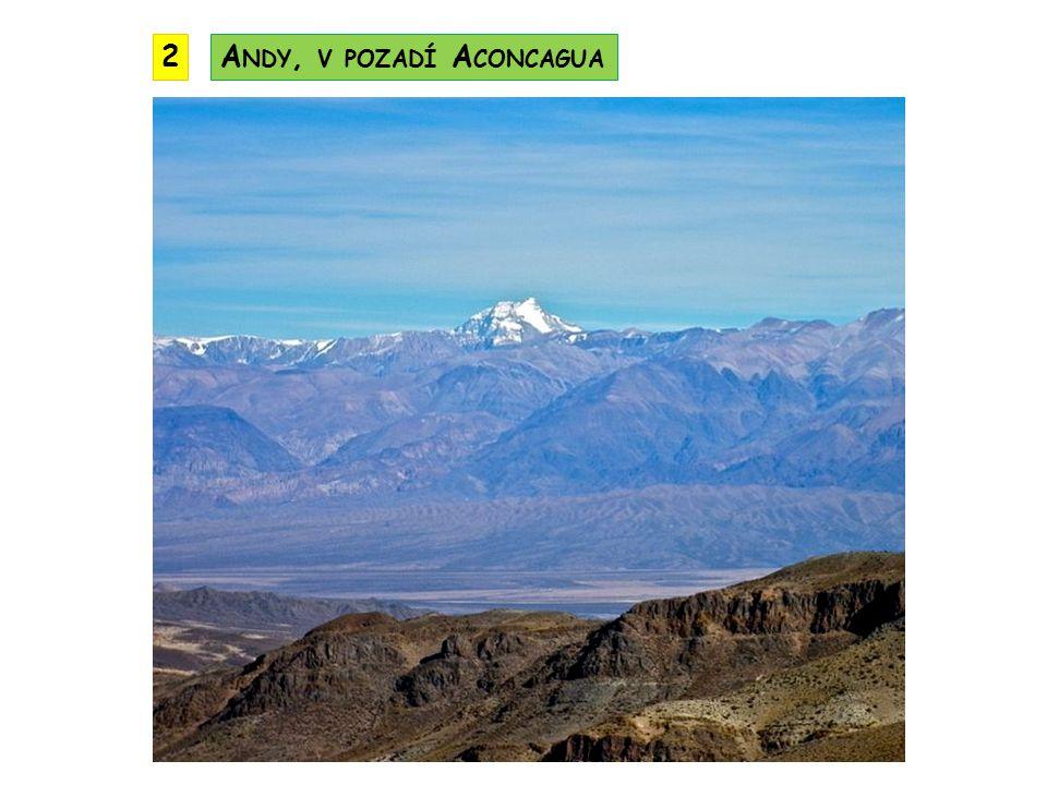 2 Andy, v pozadí Aconcagua