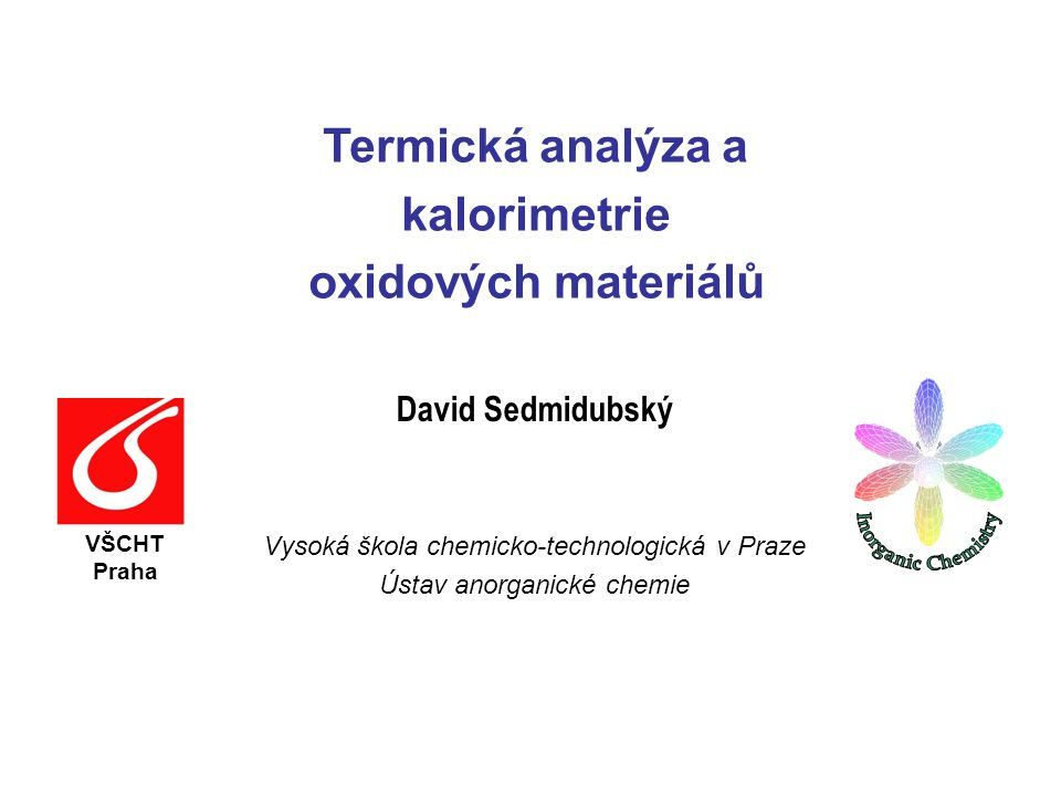 Termická analýza a kalorimetrie oxidových materiálů