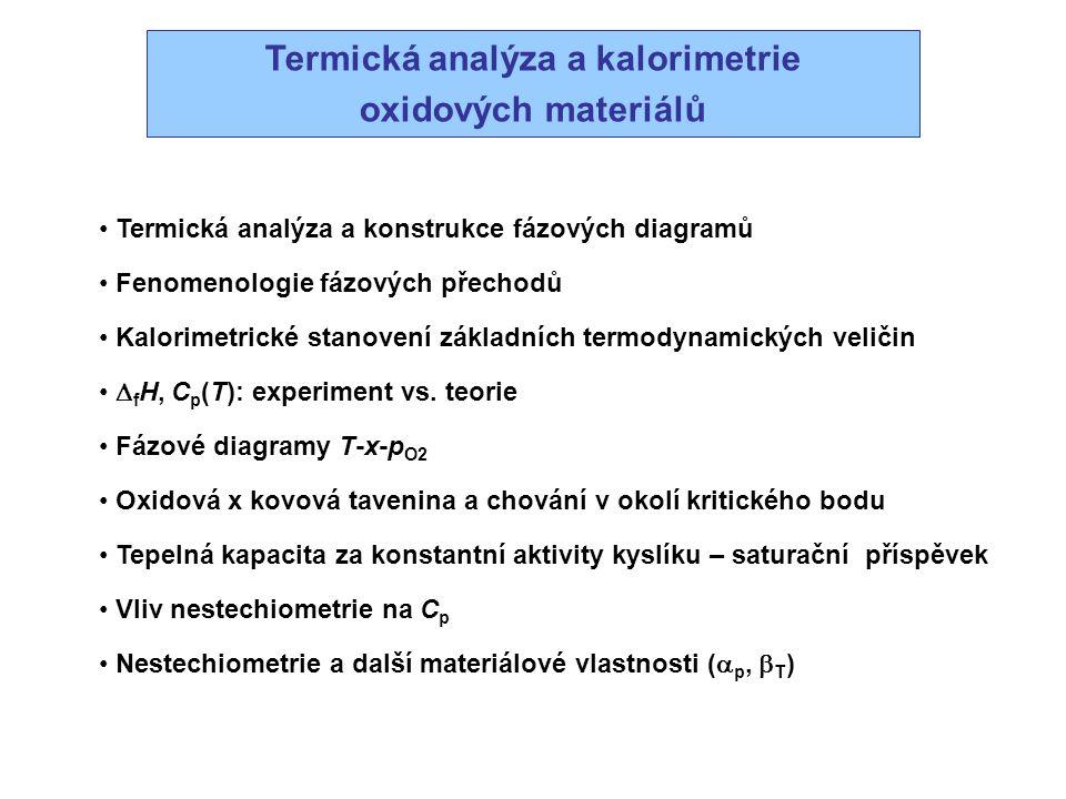 Termická analýza a kalorimetrie