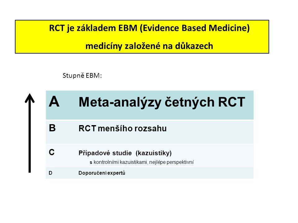 A Meta-analýzy četných RCT