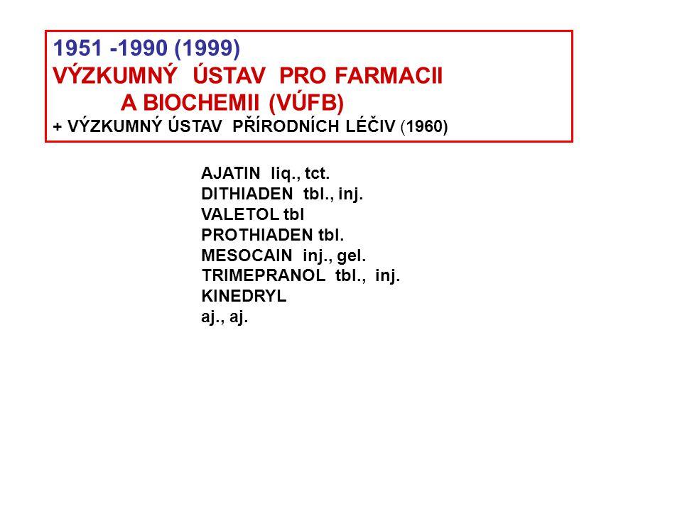 VÝZKUMNÝ ÚSTAV PRO FARMACII A BIOCHEMII (VÚFB)