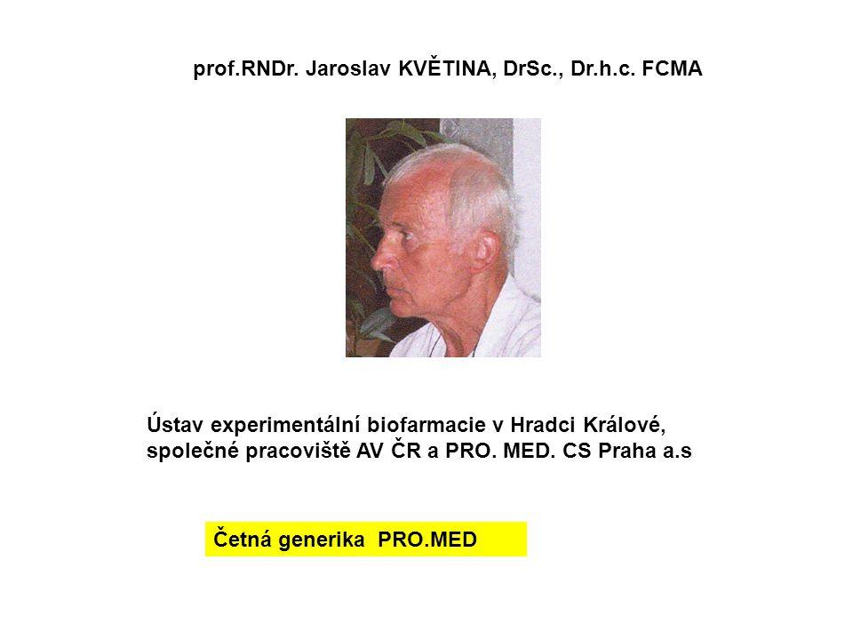 prof.RNDr. Jaroslav KVĚTINA, DrSc., Dr.h.c. FCMA