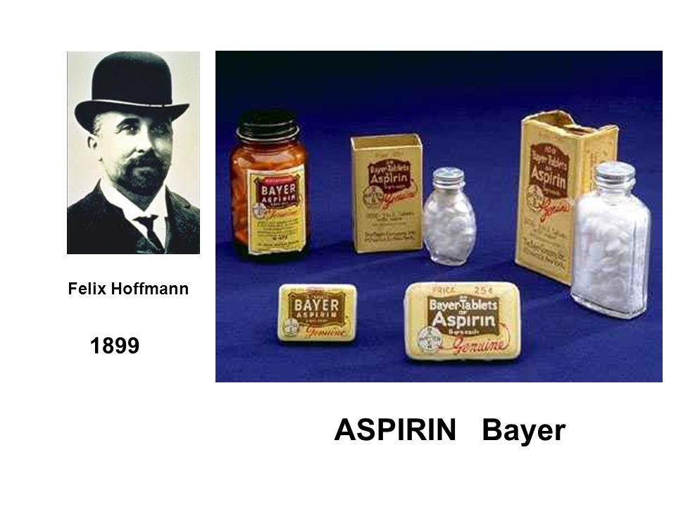 Felix Hoffmann 1899 ASPIRIN Bayer