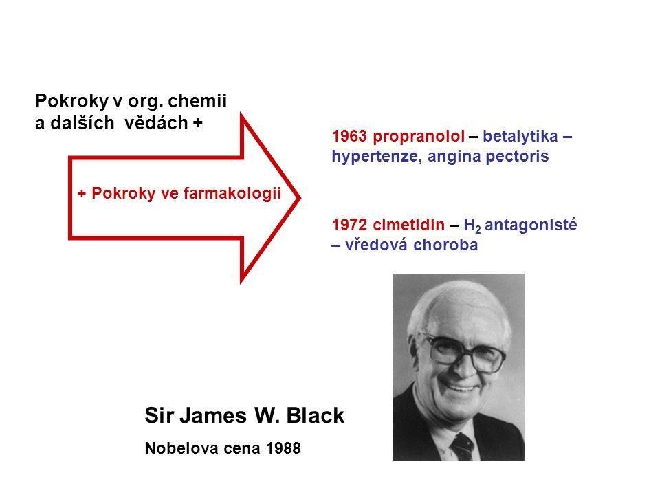 Sir James W. Black Pokroky v org. chemii a dalších vědách +