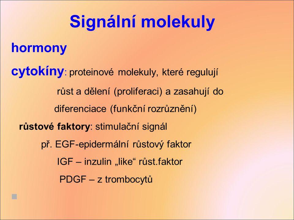 Signální molekuly hormony
