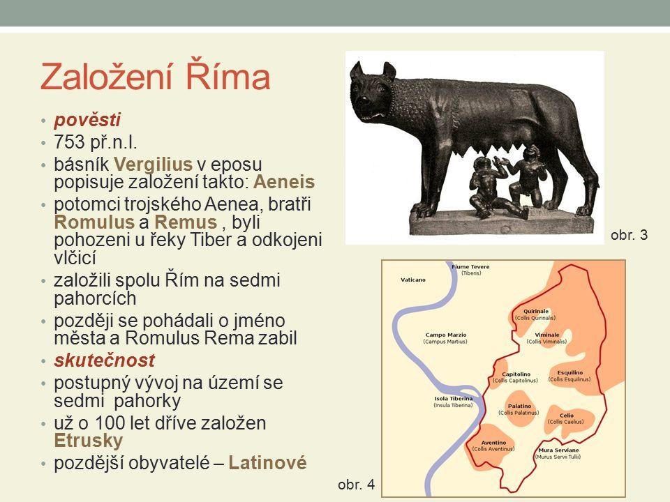 Založení Říma pověsti 753 př.n.l.