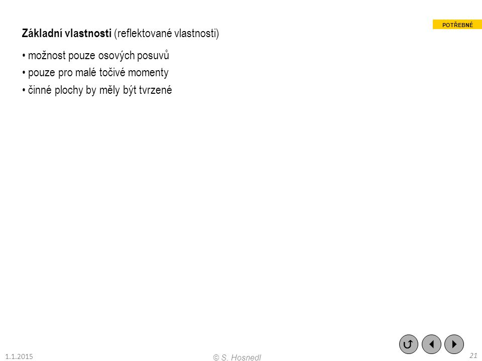 Základní vlastnosti (reflektované vlastnosti)