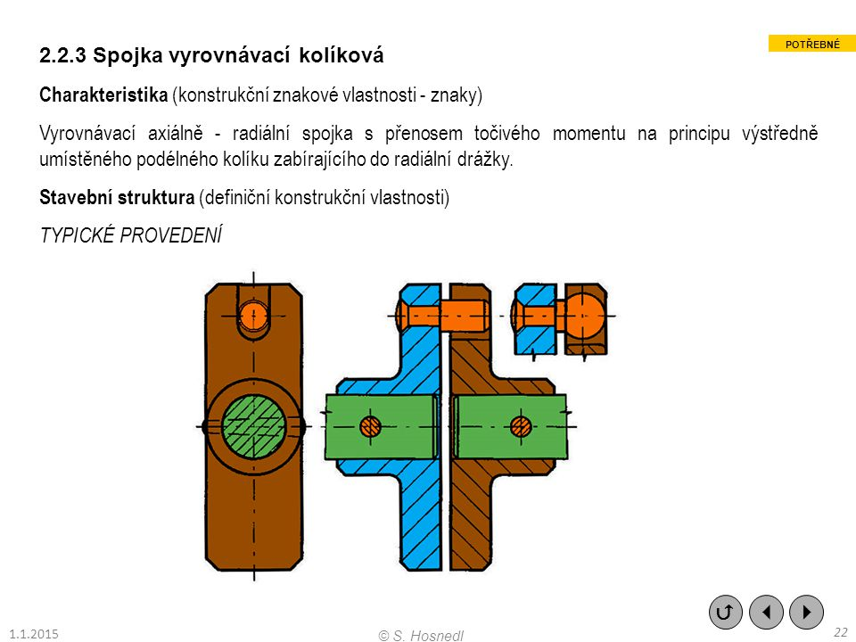 2.2.3 Spojka vyrovnávací kolíková
