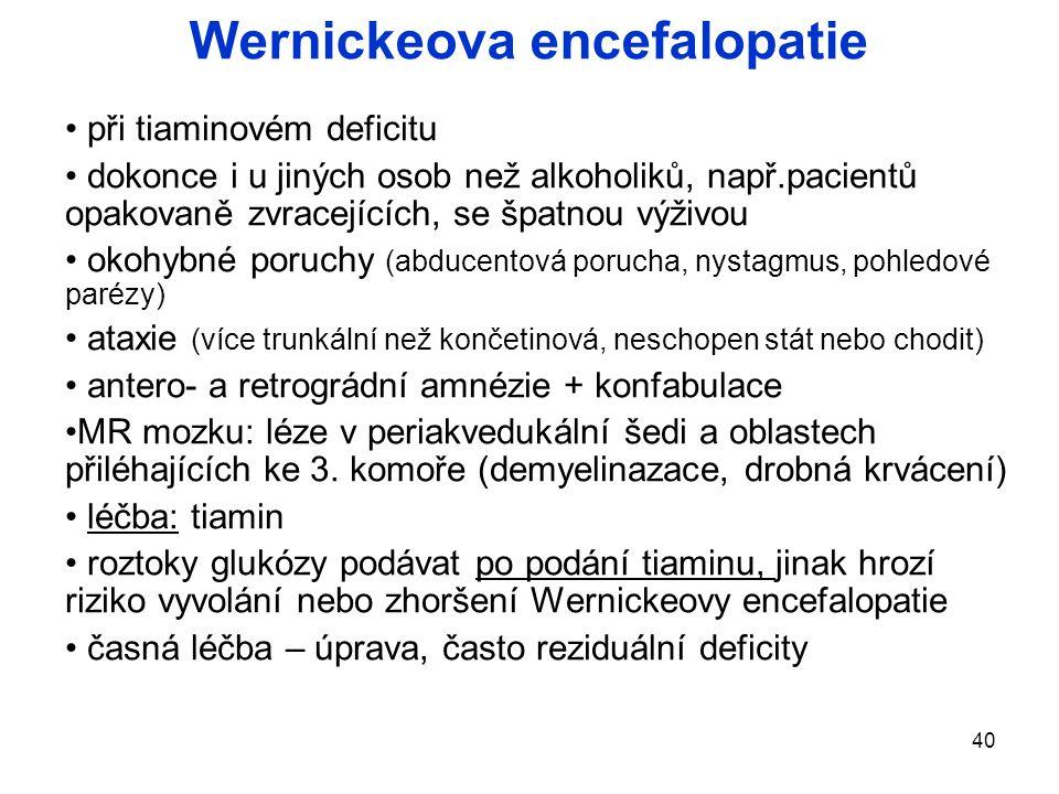 Wernickeova encefalopatie