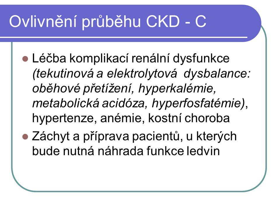 Ovlivnění průběhu CKD - C