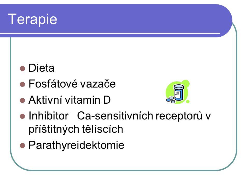 Terapie Dieta Fosfátové vazače Aktivní vitamin D