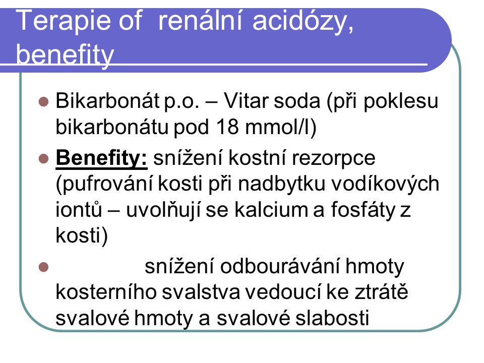 Terapie of renální acidózy, benefity
