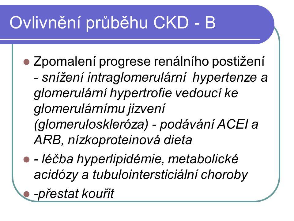 Ovlivnění průběhu CKD - B