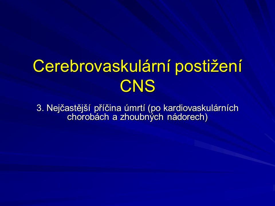 Cerebrovaskulární postižení CNS