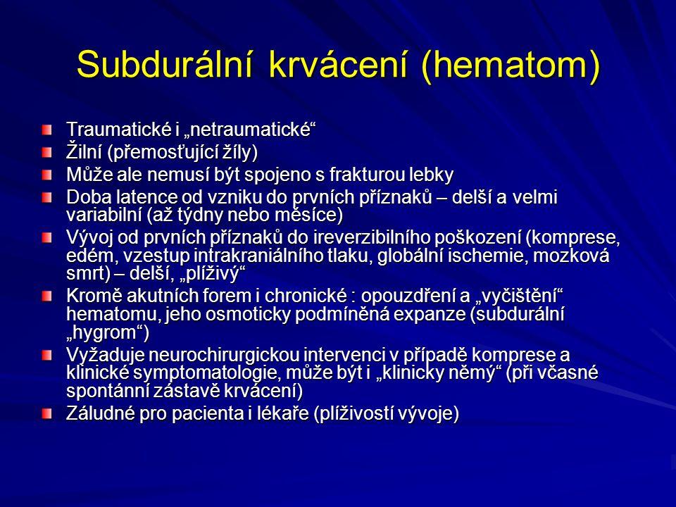 Subdurální krvácení (hematom)