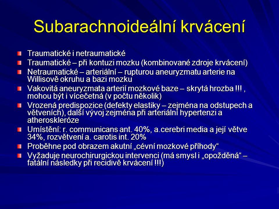 Subarachnoideální krvácení