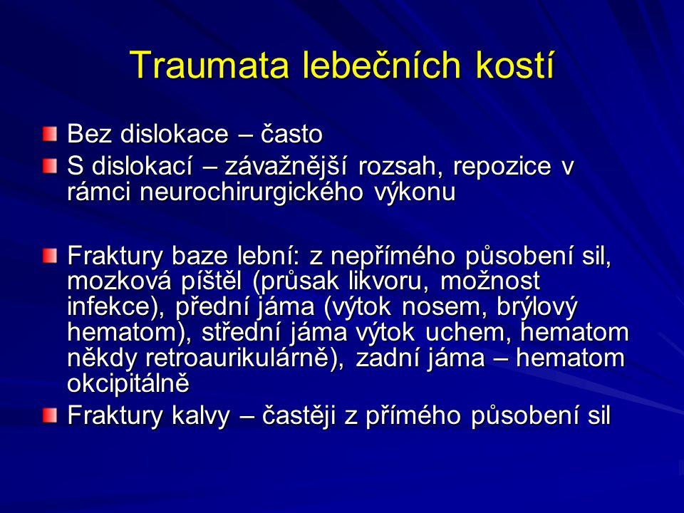 Traumata lebečních kostí
