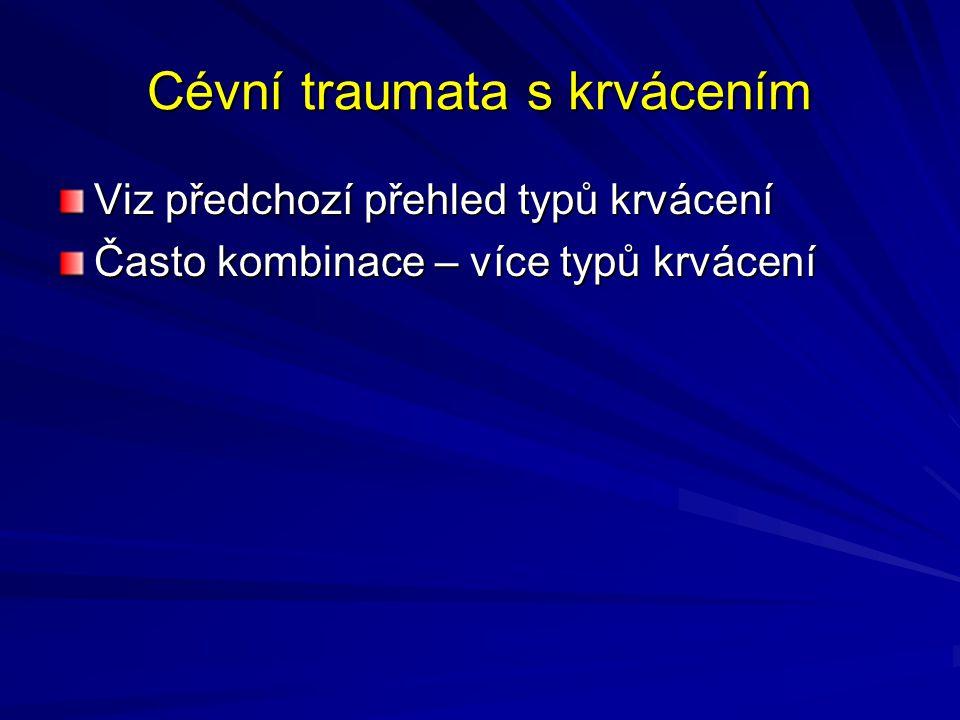 Cévní traumata s krvácením