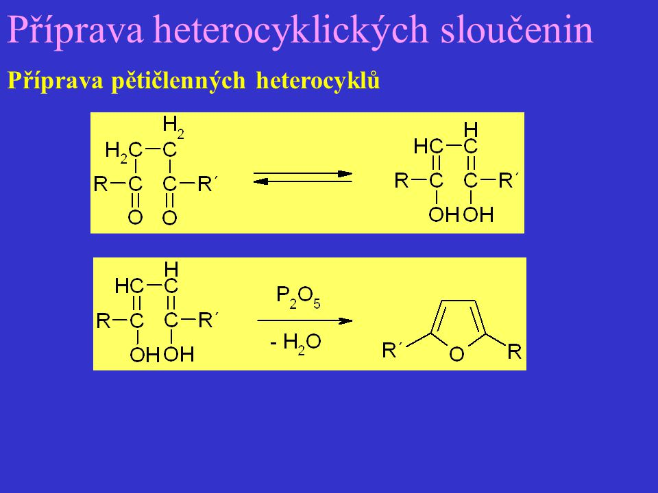 Příprava heterocyklických sloučenin