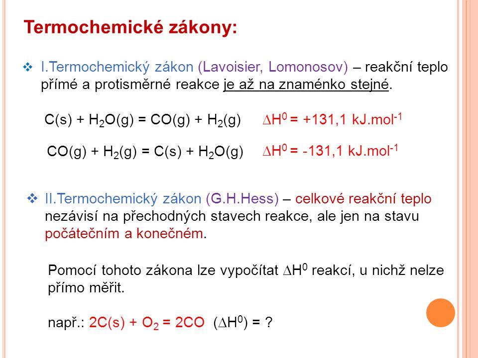 Termochemické zákony: