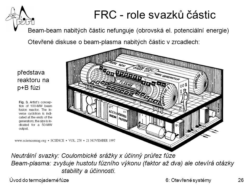 FRC - role svazků částic