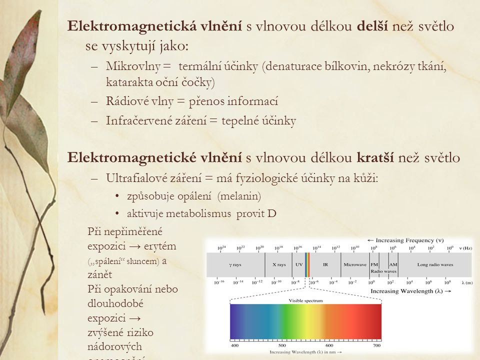 Elektromagnetické vlnění s vlnovou délkou kratší než světlo