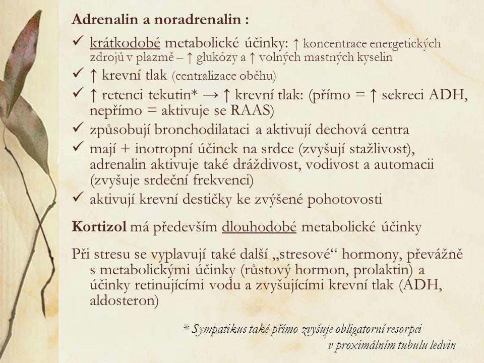 Adrenalin a noradrenalin :