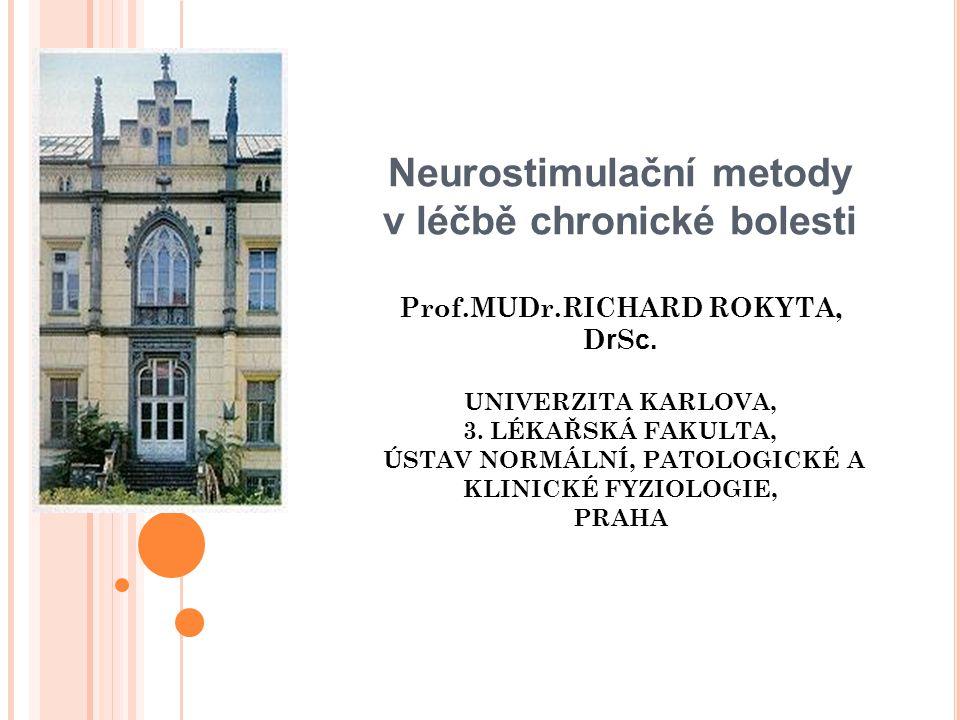 Neurostimulační metody v léčbě chronické bolesti Prof. MUDr
