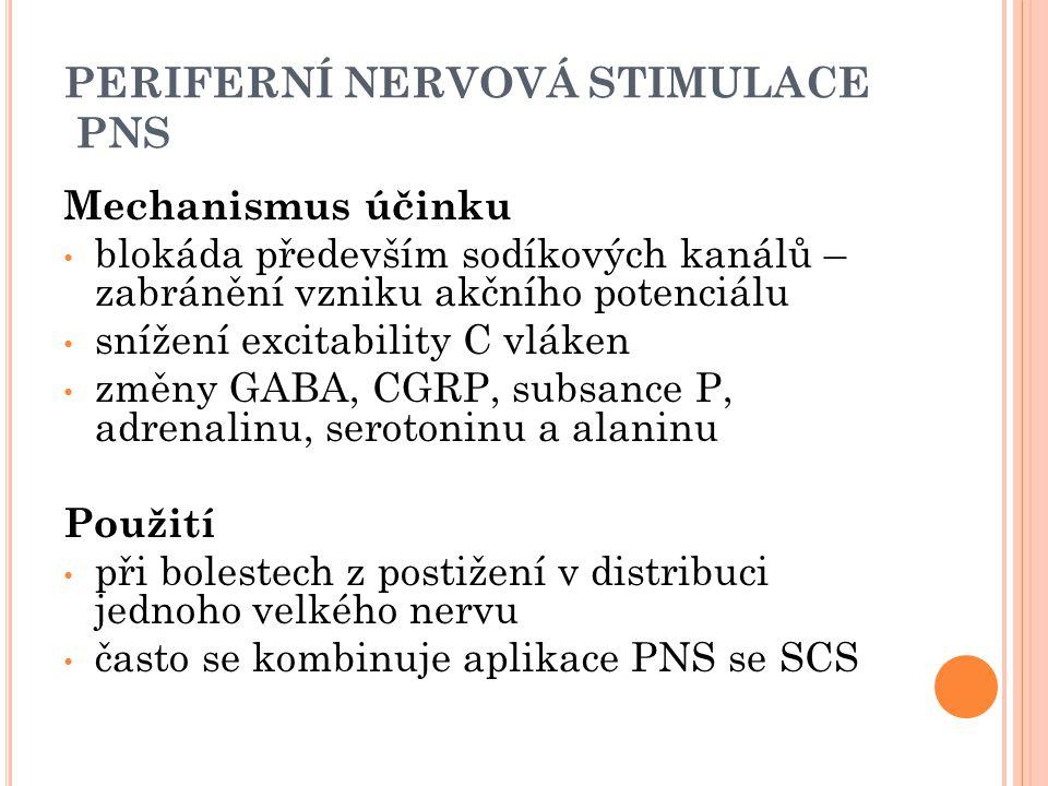 PERIFERNÍ NERVOVÁ STIMULACE PNS