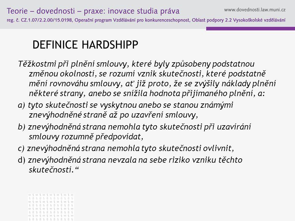 DEFINICE HARDSHIPP